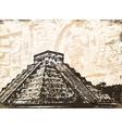 antique mayan pyramid vector image