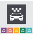 icon taxi vector image