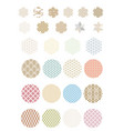 abstract art icon with geometric pattern vector image