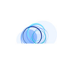 abstract circles and waves on white vector image vector image