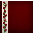abstract grunge dark red background with tulips vector image vector image