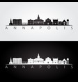 annapolis usa skyline and landmarks silhouette vector image vector image