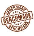 benchmark brown grunge stamp vector image vector image