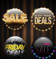 Black Friday SALE banner set for promotion vector image vector image