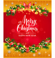 bright holiday card vector image vector image