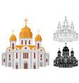 cartoon church of christian denomination decorated vector image
