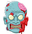 cartoon zombie head icon vector image vector image