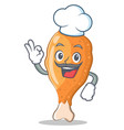 chef fried chicken character cartoon