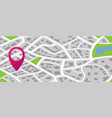 city map graphic flat vector image vector image