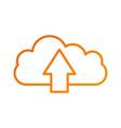cloud computing upload file information storage vector image vector image
