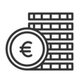 coin black icon market and business investment vector image vector image