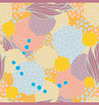 colorful floral seamless background pattern vector image vector image
