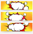 Comic book style pop-art header set vector image vector image