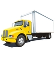 Commercial truck vector image vector image