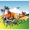 crazy background vector image vector image