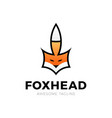 creative fox head logo symbol design vector image
