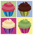 cupcakes 2 vector image vector image