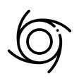 cyclone tornado icon outline vector image vector image