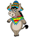 dancing mexican donkey vector image vector image
