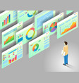 data analytics isometric vector image