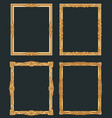 decorative vintage golden frames old shiny vector image