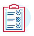 delivery check list icon outline style vector image vector image