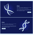 dna collection web pages vector image vector image