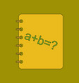 Flat icon thin lines math book vector image