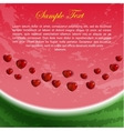Flyer With Heart-Shaped Watermelon Seeds vector image