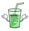 grinning green smoothie character cartoon vector image vector image