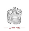 gunkan maki in hand drawn style vector image