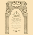 hand-drawn background for vintage certificate or vector image