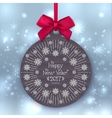 Happy New Year 2017 banner Christmas ball vector image vector image