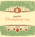 happy thanksgiving background with decorative vector image vector image