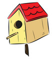 image bird house or color vector image vector image