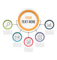 infographic template with five steps vector image vector image