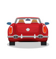 isolated red retro cabriolet with shadow vector image