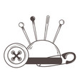isolated tool tailor shop design vector image