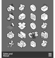 Isometric outline icons set vector image