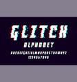 latin alphabet trendy font 2018 style distorted vector image