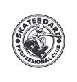 logo design skateboard professional club with man vector image