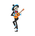 male skeleton in mexican national costume and vector image vector image