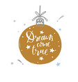 merry christmas and new year words on christmas vector image vector image