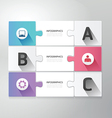 Modern Design jigsaw style infographic template vector image vector image