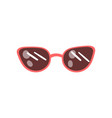modern sunglasses cartoon vector image vector image
