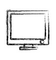 monitor computer icon vector image vector image