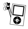 mp3 earphones music festival background vector image vector image