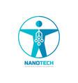 nanotech - logo template concept vector image