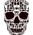 Ornamental scull as abstract floral vector image vector image