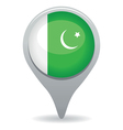 pakistan flag pointer vector image vector image